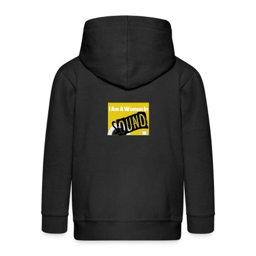 I am a woman in sound - yellow - Kids' Premium Zip Hoodie