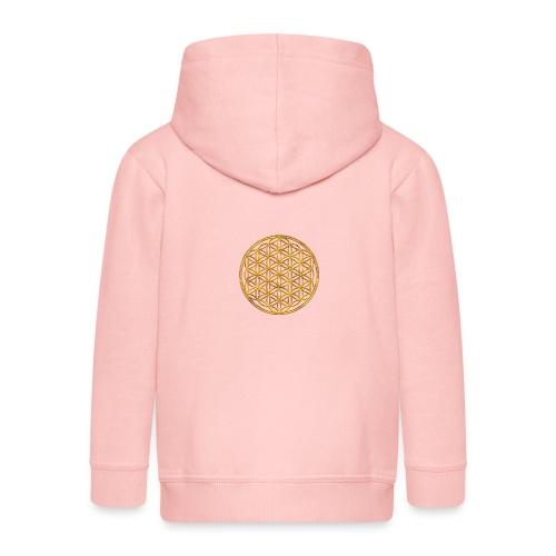 Flower of life GOLD 2 - Kinderen Premium jas met capuchon