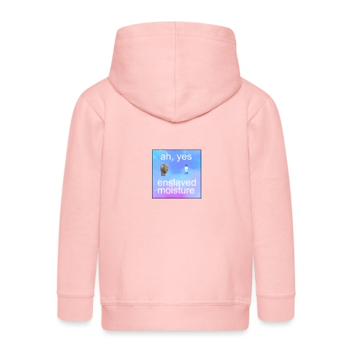 ah yes enslaved moisture meme - Kids' Premium Zip Hoodie