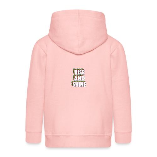 Rise and Shine Meme - Kids' Premium Hooded Jacket