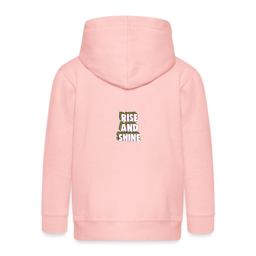 Rise and Shine Meme - Kids' Premium Zip Hoodie