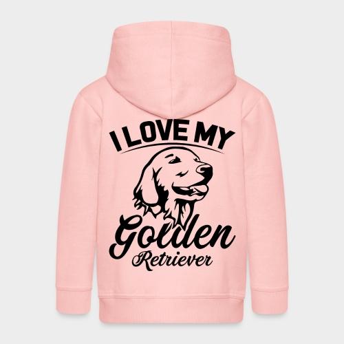 I LOVE MY GOLDEN RETRIEVER - Kinder Premium Kapuzenjacke