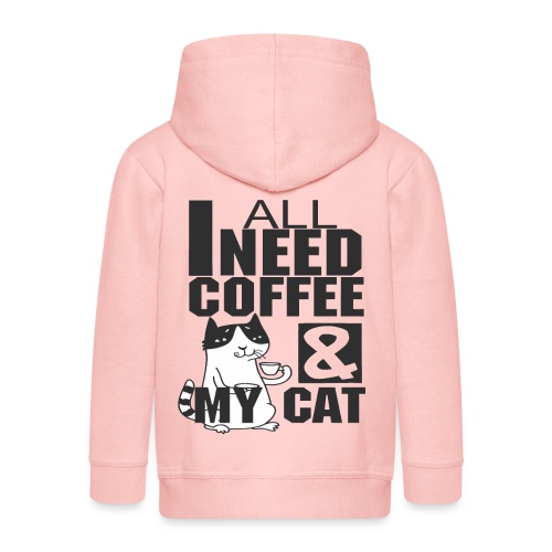All I need is coffee and my cat - Funny coffee cat - Veste à capuche Premium Enfant