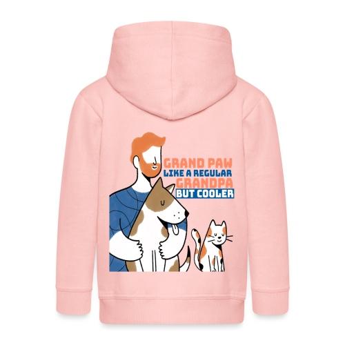 Grand paw like a regular grandpa but cooler animal - Veste à capuche Premium Enfant