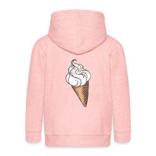 Softeis Vanille - Kinder Premium Kapuzenjacke
