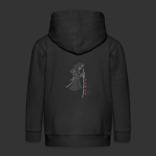 Samurai Digital Print - Kids' Premium Zip Hoodie