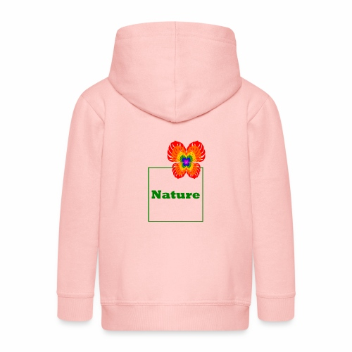 Nature - Butterfly / Flower / Monstera - Kids' Premium Zip Hoodie