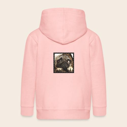 Mops Hund 1 - Kinder Premium Kapuzenjacke