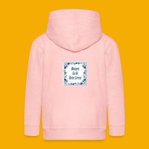 delft blauw - Kinderen Premium jas met capuchon