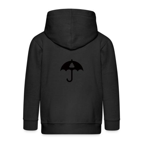 Shit icon Black png - Kids' Premium Zip Hoodie