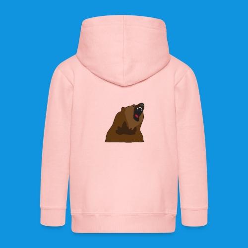 Growling Bear - Kids' Premium Zip Hoodie