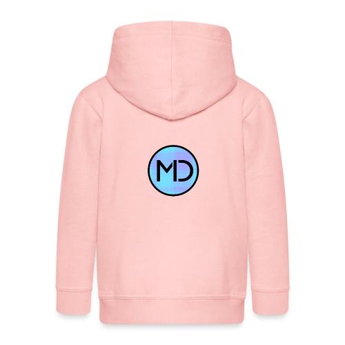 MD Blue Fibre Trans - Kids' Premium Zip Hoodie