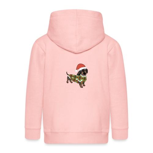 Christmas Dachshund - Kids' Premium Zip Hoodie