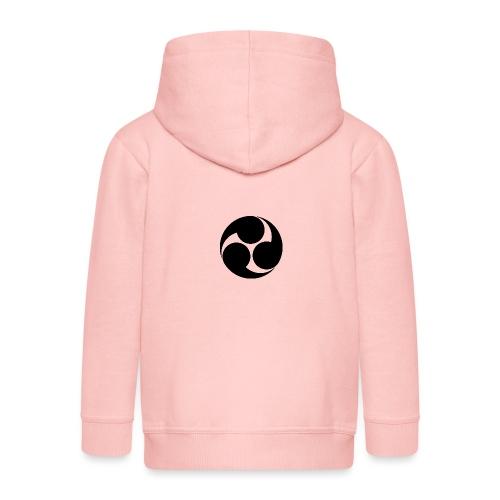 Kobayakawa Mon Japanese clan black - Kids' Premium Zip Hoodie