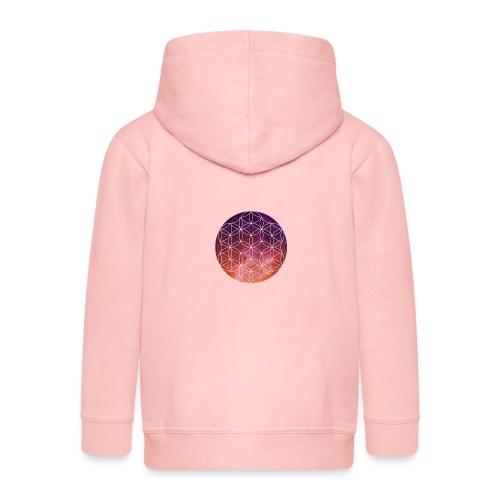 FlowerOfLife Warm - Kinderen Premium jas met capuchon