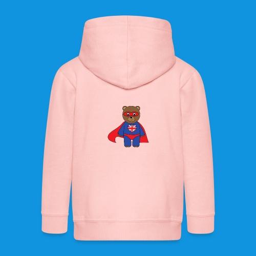 British Hero Bear tank - Kids' Premium Zip Hoodie