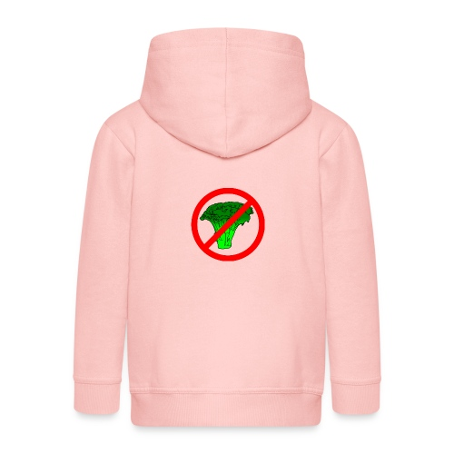 no broccoli allowed - Kids' Premium Zip Hoodie