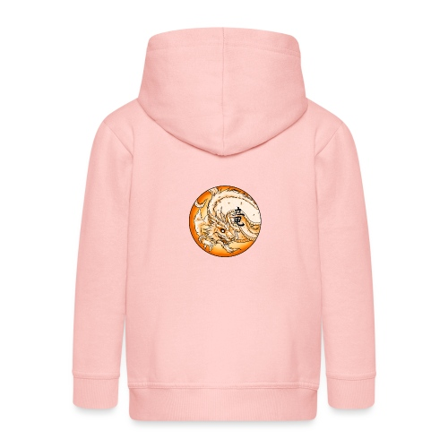 Chinese Dragon - Rozpinana bluza dziecięca z kapturem Premium