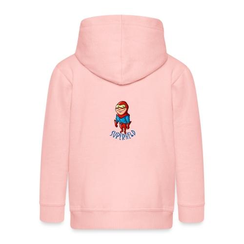 vl074h_superheld_4c_text - Kinder Premium Kapuzenjacke