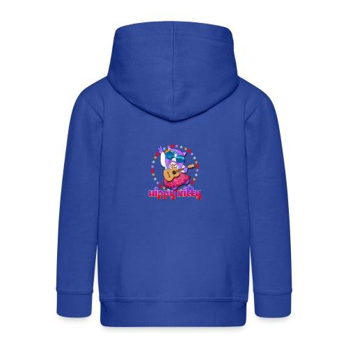 Hippy Kitty - Felpa con zip Premium per bambini