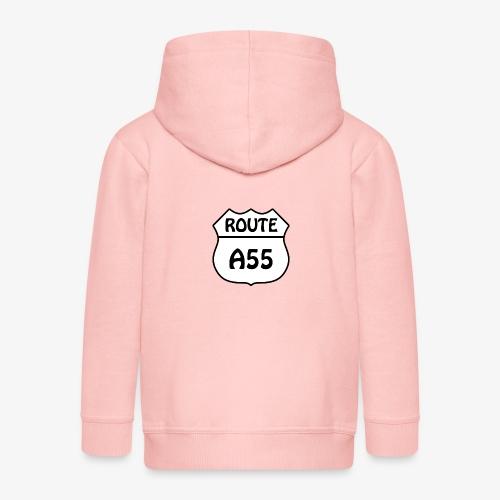 Route A55 - Kids' Premium Zip Hoodie