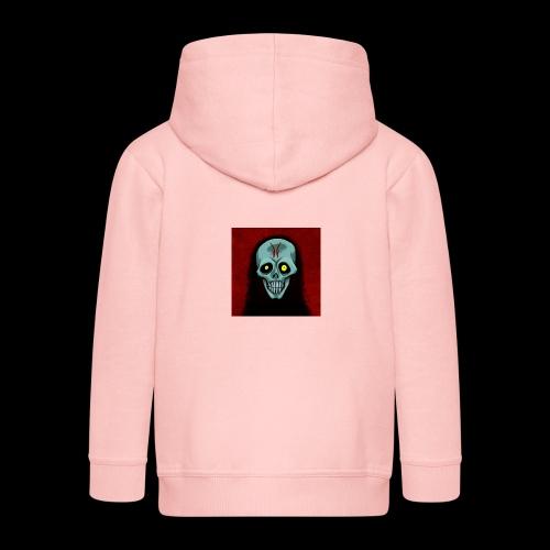 Ghost skull - Kids' Premium Zip Hoodie
