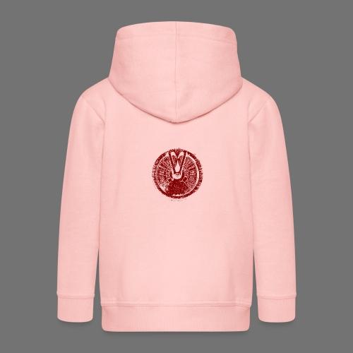 Maschinentelegraph (red oldstyle) - Kids' Premium Hooded Jacket