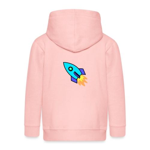 Blue rocket - Kids' Premium Zip Hoodie