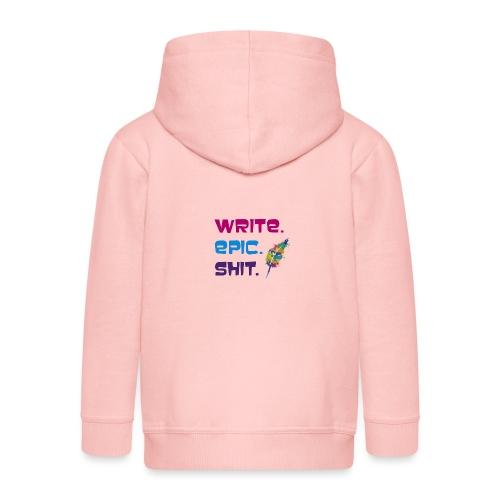 Write.Epic.Shit by www.Schreiben-im-Flow.de - Kinder Premium Kapuzenjacke