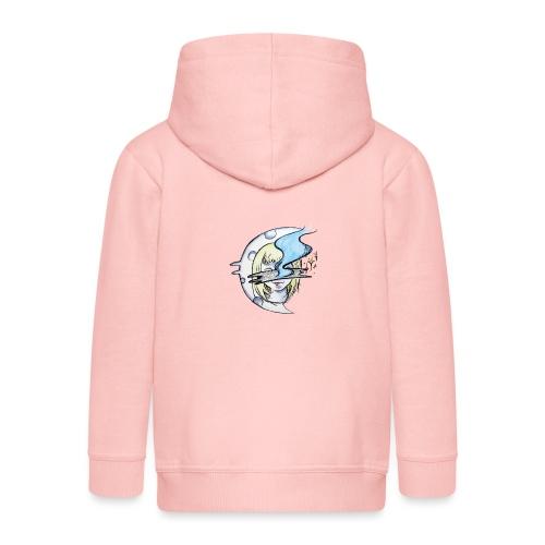 Mysterious Moon Lady - Kinder Premium Kapuzenjacke