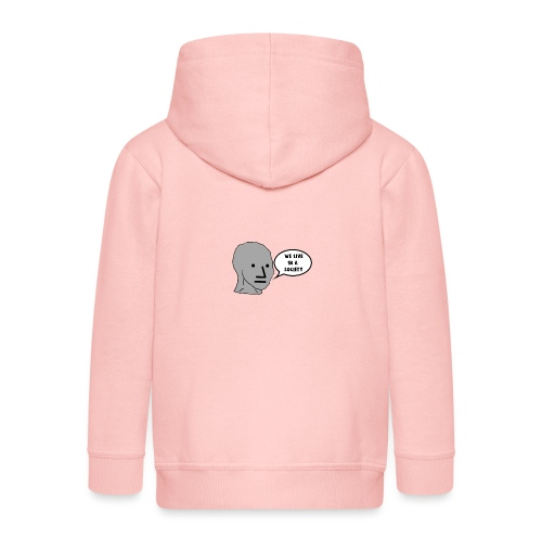 NPC We Live in a Society Meme - Kids' Premium Zip Hoodie