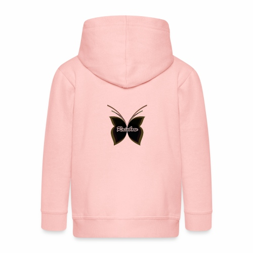 Black Butterfly Rainbow - Kinder Premium Kapuzenjacke