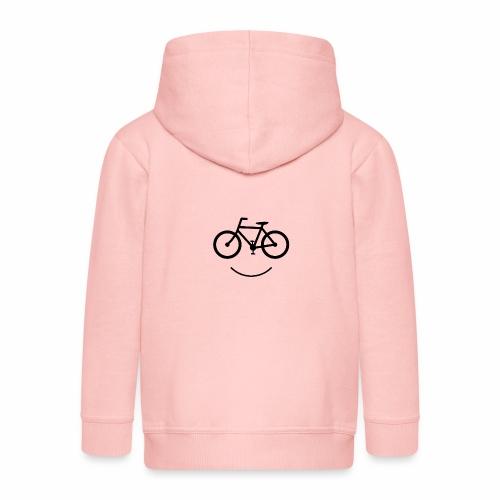 Black Design Love Cycling - Kinder Premium Kapuzenjacke