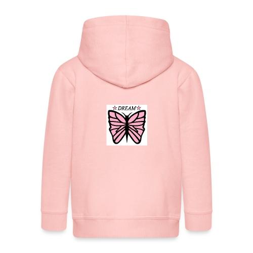 Fjäril, Dream rosa vit svart - Premium-Luvjacka barn