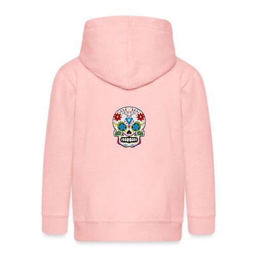 skull5 - Felpa con zip Premium per bambini