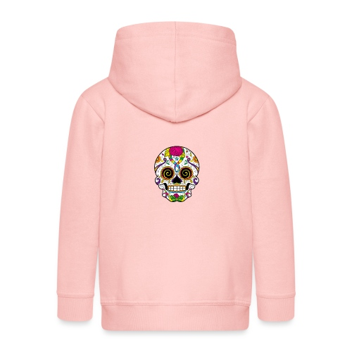 skull3 - Felpa con zip Premium per bambini