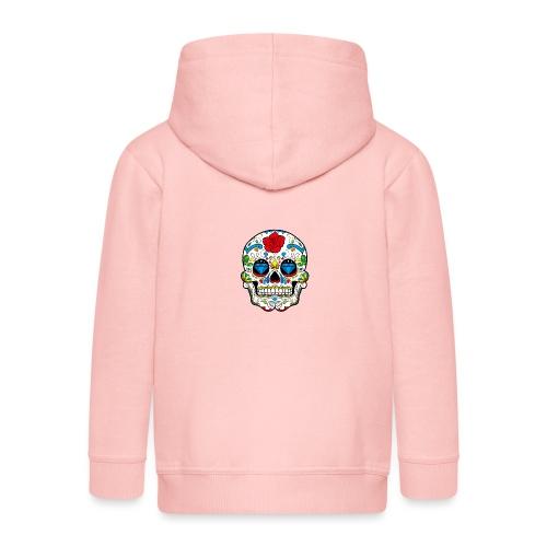 skull2 - Felpa con zip Premium per bambini