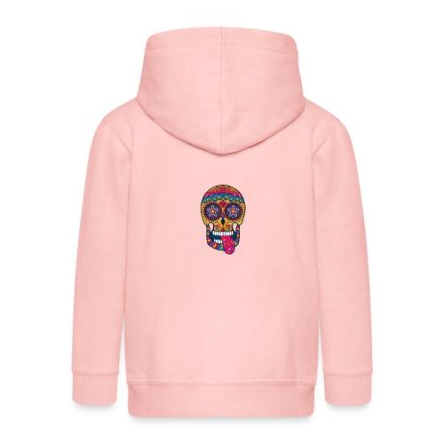 Mexican Skull - Felpa con zip Premium per bambini