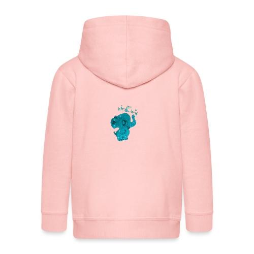Elefante - Felpa con zip Premium per bambini