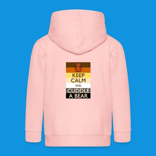 Calm Bear pocket tank - Kids' Premium Zip Hoodie