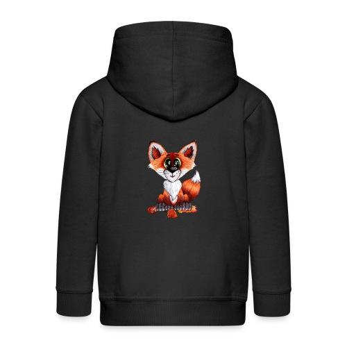 llwynogyn - a little red fox - Kids' Premium Zip Hoodie