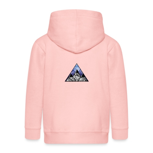 Grime Apparel Mountain Range Graphic Shirt. - Kids' Premium Zip Hoodie