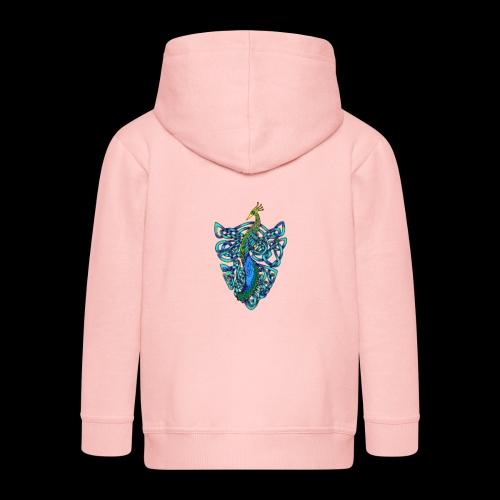 Peacock - Kids' Premium Hooded Jacket