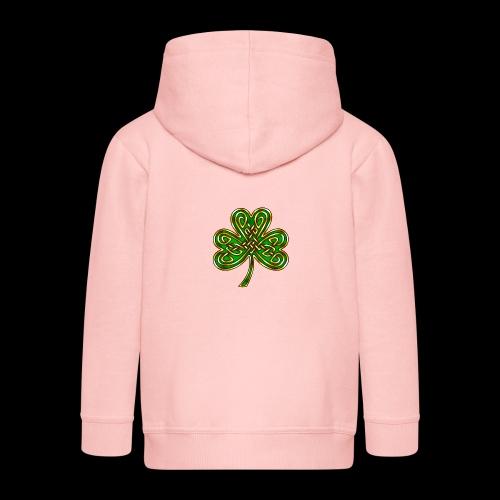 Celtic Knotwork Shamrock - Kids' Premium Zip Hoodie