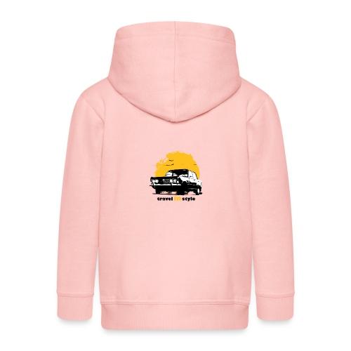 Travel in style - Rozpinana bluza dziecięca z kapturem Premium