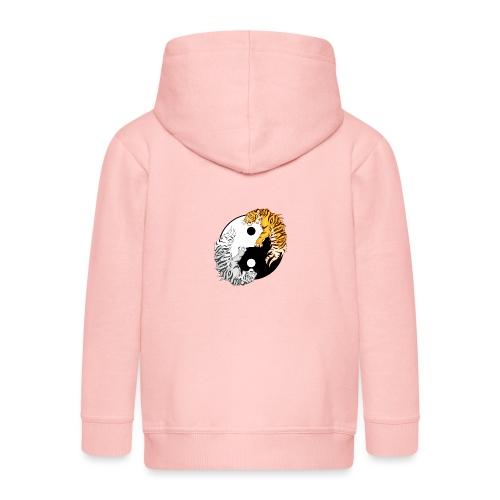 Yin & Yang Tigers - Rozpinana bluza dziecięca z kapturem Premium