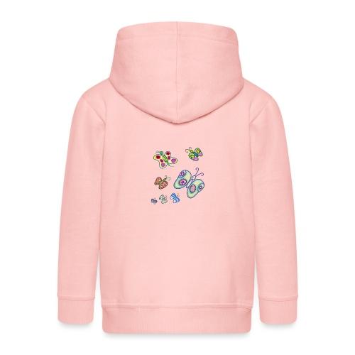 Allegria di farfalle - Felpa con zip Premium per bambini
