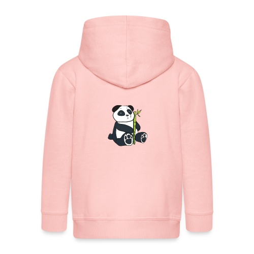 Oso Panda con Bamboo - Chaqueta con capucha premium niño