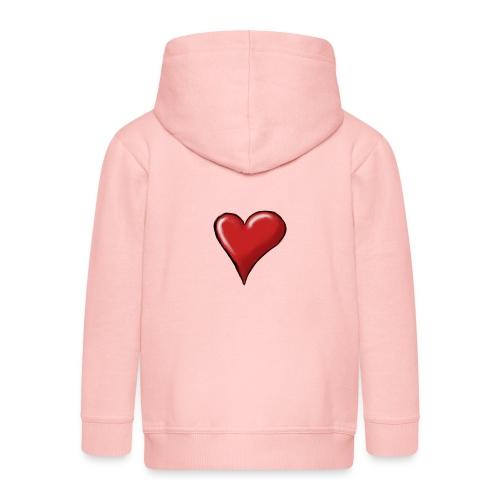 Love (coeur) - Veste à capuche Premium Enfant