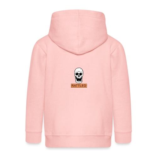 Rattled Spooky Halloween Skeleton Meme - Kids' Premium Zip Hoodie